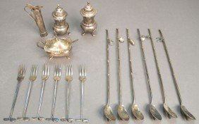 LOT OF MISC. STERLING SILVER Including Cocktail Pi