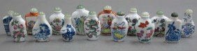 LOT OF (15) CHINESE PORCELAIN SNUFF BOTTLES Hei