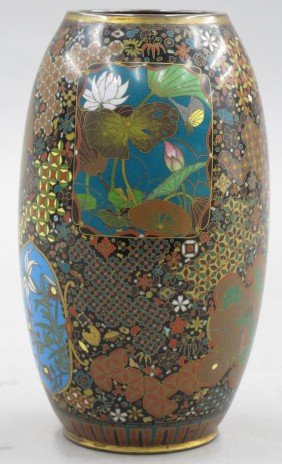JAPANESE CLOISONNE VASE Circa Late 19th Century