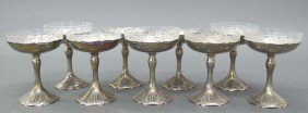 SET OF (9) SHREVE & CO. STERLING SILVER CHAMPAG