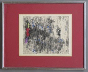 MARC CHAGALL PENCIL LITHOGRAPH Numbered Sight-