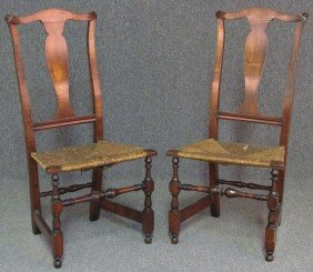 PAIR OF EARLY AMERICAN MAPLE SIDE CHAIRS Circa