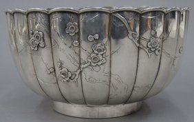 JAPANESE SILVER BOWL With Makers Mark Diameter-