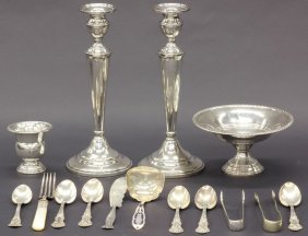 LOT OF MISC. STERLING SILVER Total Pcs- 15 Weight-