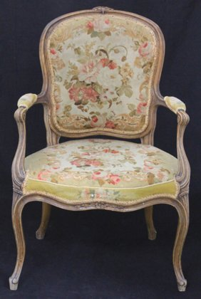 Early French Needlepoint Arm Chair
