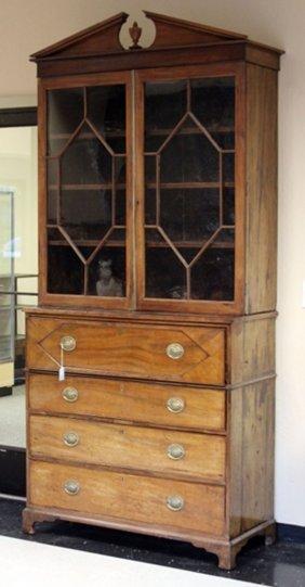 Georgian Mahogany Double Door Breakfront