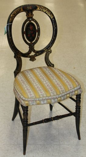 Victorian Hand Painted Parlor Chair