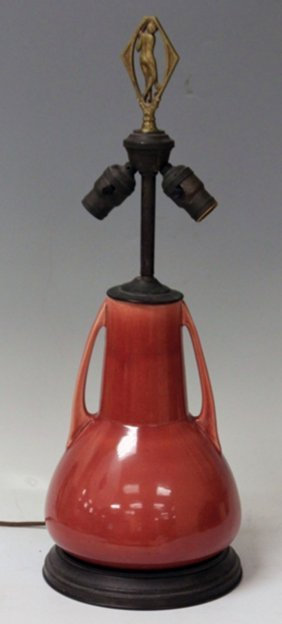 Vintage Arts And Crafts Vase Turned Into Lamp