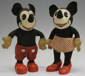 Knickerbocker, Mickey And Minnie Mouse, 1930's