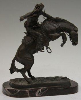 Frederic Remington Bronze Statue, Bronco Buster