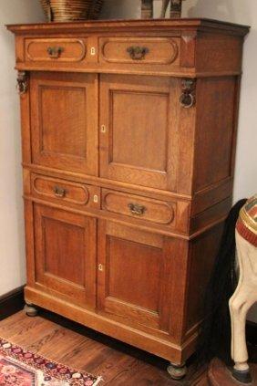 Late 19th Century Oak Storage Cabinet