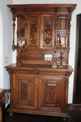 French Carved Oak Continetal Buffet