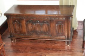 Early 20th Century Carved Blanket Chest