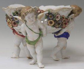 Early German Porcelain Figural Center Bowl