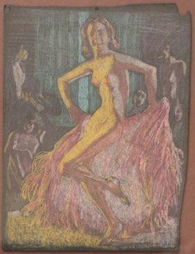 Carol Steinbeck Portrait, Pastel