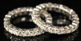 Pair Of Platinum Diamond Rings