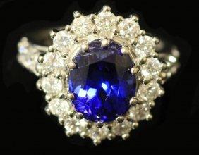 14kt Tanzanite And Diamond Ring
