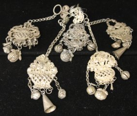 Lot Of (5) Chinese Silver Ornaments