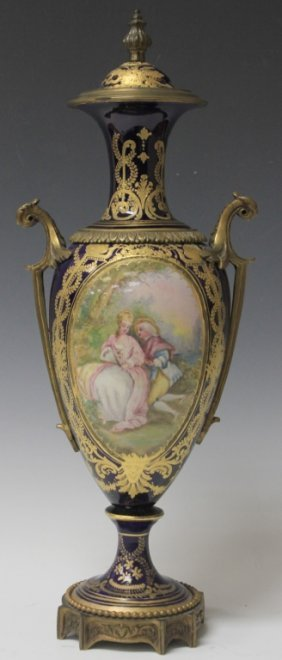 Sevres French Painted Urn, 19th Century