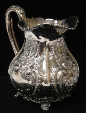 Sterling Silver Baroque Water Pitcher