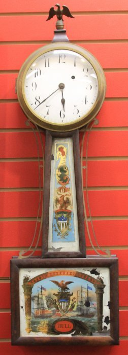 Early Mid-19th Century American Banjo Clock