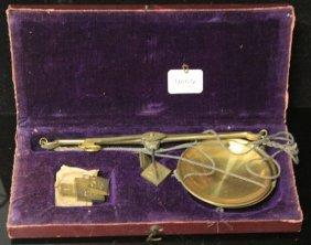 German Brass Scale With Original Case