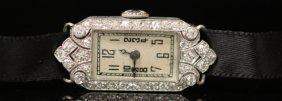 Vintage Platinum Diamond Lady's Wristwatch