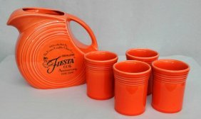 Fiesta 60th Anniversary 5-piece Pitcher And Tumbler Set