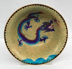 Cloisonne Dragon Bowl From The People's Republic Of