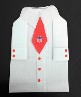 Union Pacific Napkin - Folded As A Shirt