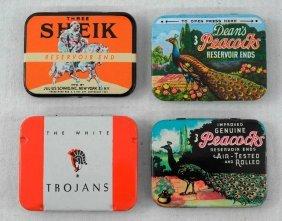 Vintage Condom Tin Lot 4 Different