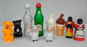 Five Pairs Of Vintage Advertising Salt And Pepper