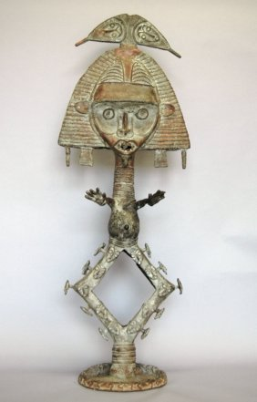 Bakota Bronze Sculpture Of Shaman