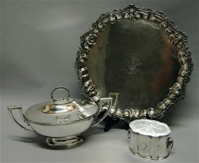 3 Piece English Silver Plate Group
