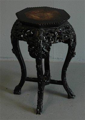 Chinese Teak Tabouret Table