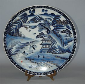 Japanese Blue & White Imari Charger