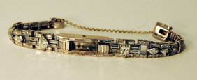 Lady's Diamond & Platinum Bracelet  & Watch Shell
