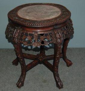 Chinese Teak Tabouret Table