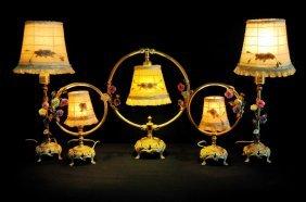 Set Of 5 Boudoir Lamps