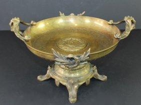 Fine Victorian Bronze Tazza Bowl