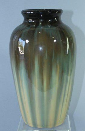 "Fulper Pottery 12"" Butterscotch Flambe Vase"