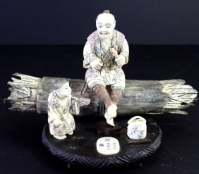 Carved Ivory Grouping