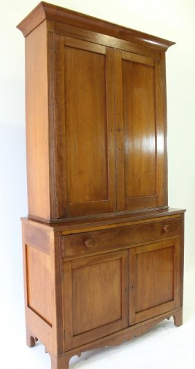 Cherry Blind Door Stepback Cupboard
