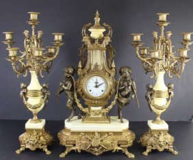 Three Piece Mantle Clock Set