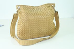 Bottega Veneta Classic Woven Leather Handbag