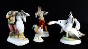 Four Herend Porcelain Figurines