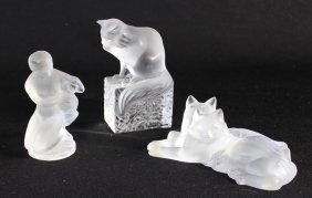 Three Piece Lalique Crystal