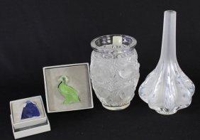 Group Of Four Pieces Lalique