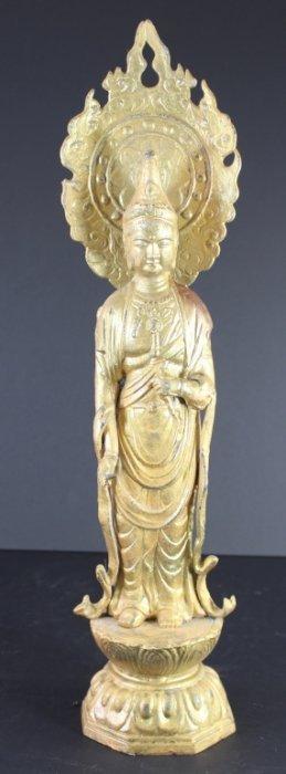 Chinese Gilt Figure Of Bodhisattva