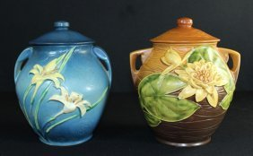 Two Roseville Pottery Cookie Jars